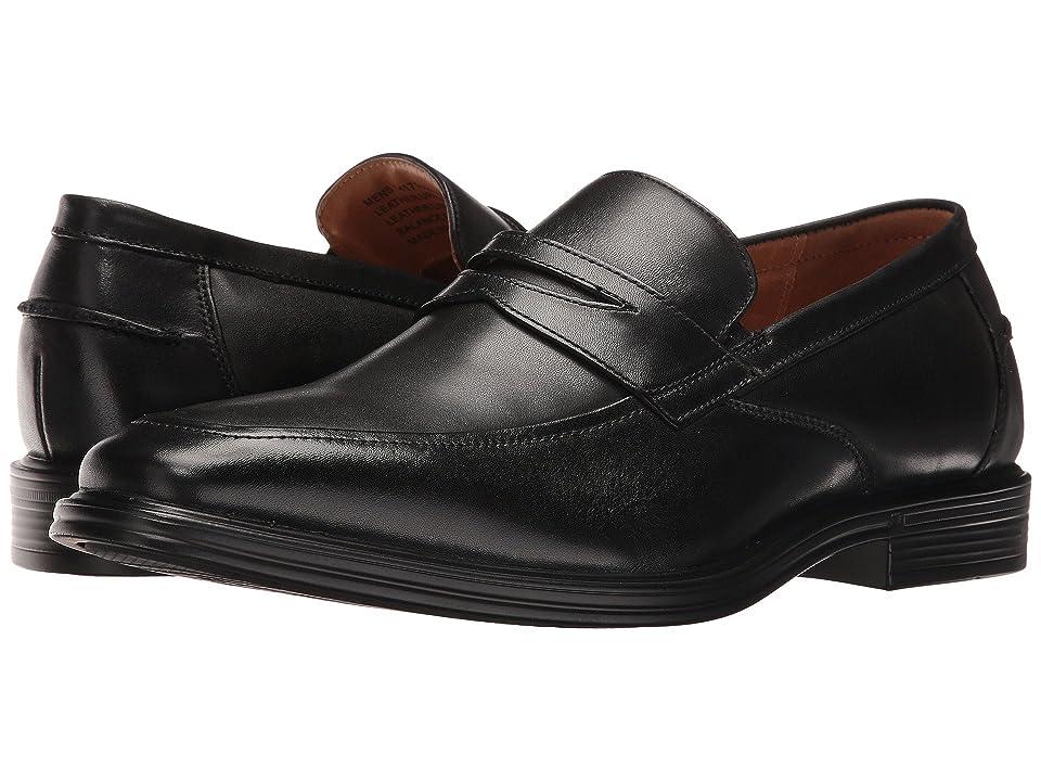 Florsheim Heights Penny Slip-On (Black Smooth) Men