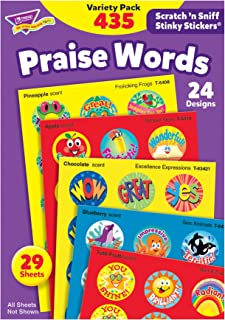 Trend T6490 Stinky Stickers Variety Pack, Praise Words, 435/pack