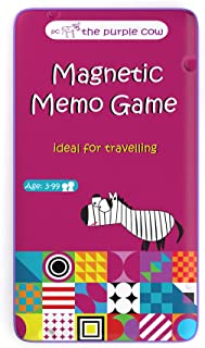 The Purple Cow Magnetic Travel to Go Memo Game, Multicolor