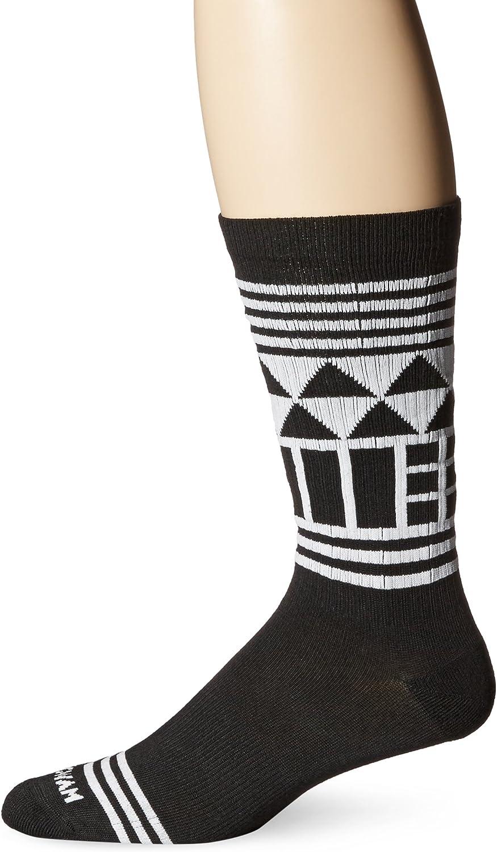 Wigwam Men's Lingo Black and White Casual Crew Socks