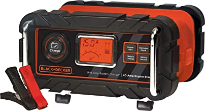 BLACK+DECKER BC15BD Fully Automatic 15 Amp 12V Bench Battery Charger/Maintainer with 40A Engine Start, Alternator Check, C...