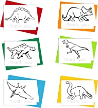 Thank You Cards - Dinosaur Cards Thank You Notes for Kids to Color, Trace Letters and Practice Writing - Eco-friendly Stationery for Children - 100% Recycled Note Cards with Envelopes – Blank Inside