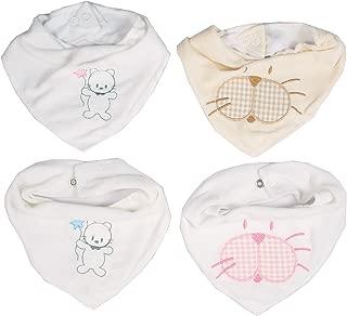 Pack 8 Baberos Estampados Impermeables para Beb/é Lote de 8 Baberos Transpirables con Cierre de Cinta de Autocierre para beb/és de 0 a 8 meses 19x27 cm Ti TIN
