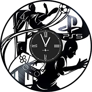Wall Clock Vinyl Compatible with Sony Playstation 5 - 12 inch - Made in Europe - Precision Silent Quartz Movement - Best G...