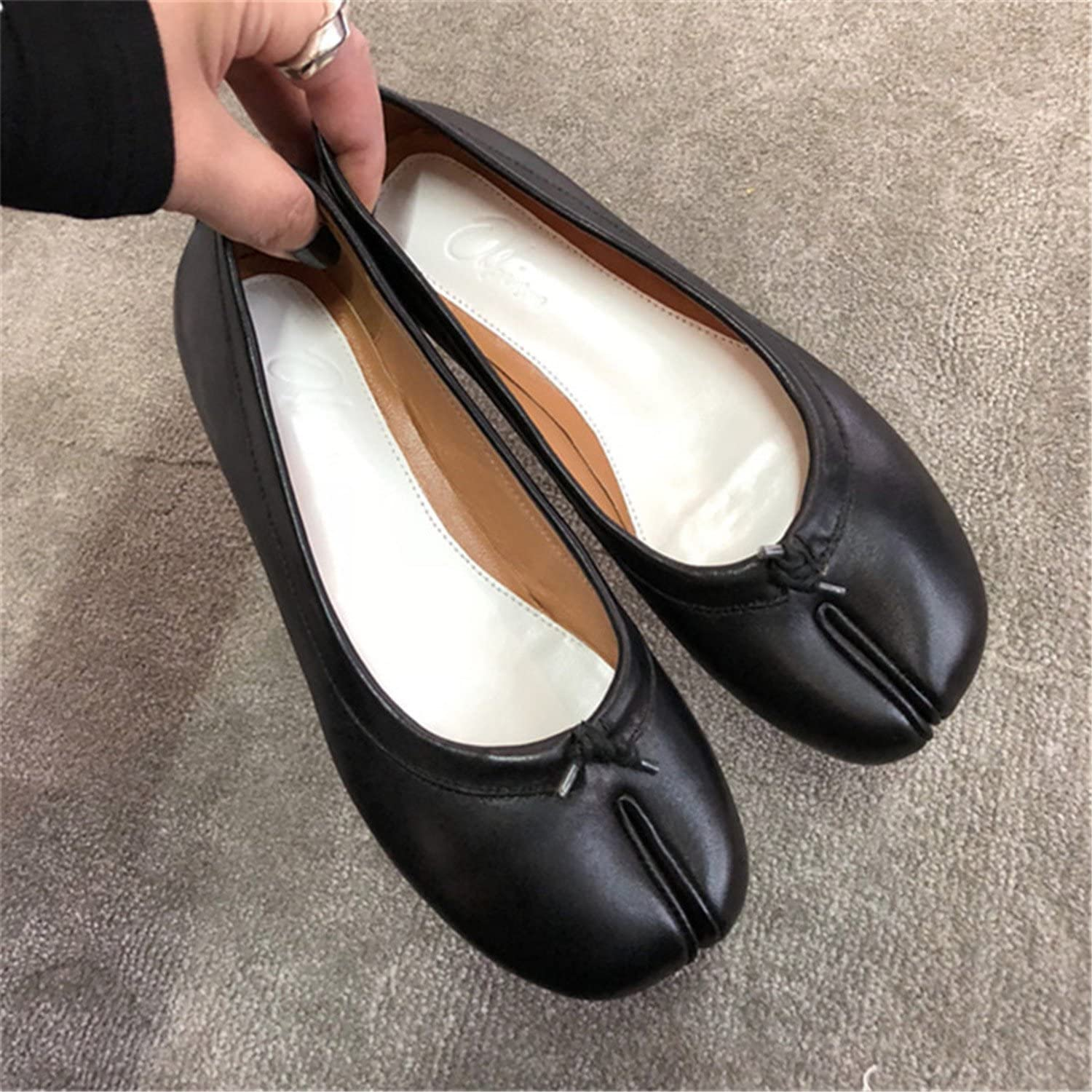 Naomiky Newest Flat shoes Woman Split Toes Apart Runway Casual shoes for Women shoes shoes women