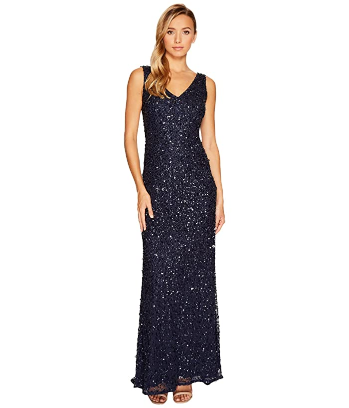 7f43e04c64ec8 Adrianna Papell V-Neck Crunchy Bead Gown at 6pm