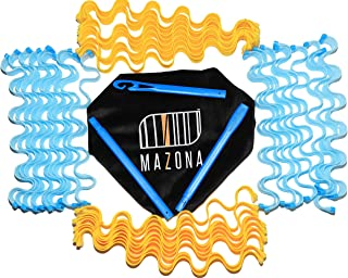 MAZONA Wave Formers Hair Curlers | The Heatless Hair Waver and No Heat Curlers | 36 PCS 55-cm long Wave Curl Formers for B...