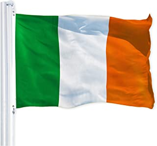 G128 – Irish Flag | 3x5 feet | 150D Printed – Indoor/Outdoor, Quality Polyester, Brass Grommets