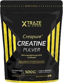 Créatine Monohydrate (Creapure®) Poudre 500 g, Créatine en Poudre végétalienne sans goût, 100% pure, Complement Alimentair...