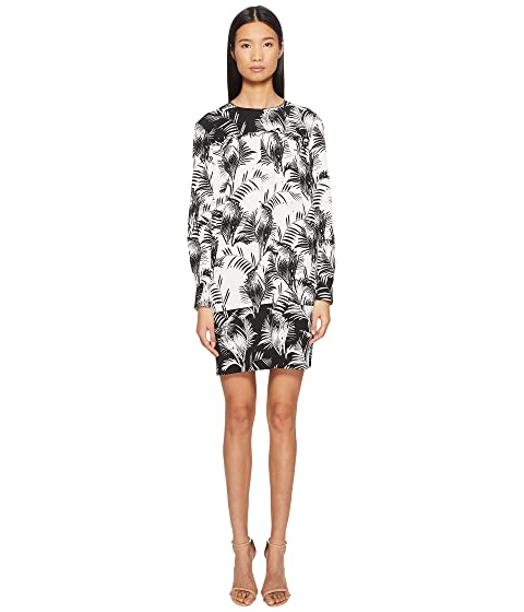 Sonia Rykiel Palm Print Long Sleeve Dress