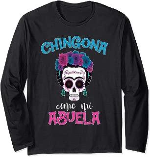 Chingona como mi Abuela Funny Latin Grandma Abuela Long Sleeve T-Shirt