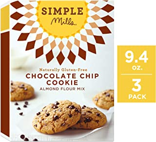 Simple Mills Almond Flour Mix, Chocolate Chip Cookie, 9.4 Ounce (Pack of 3)