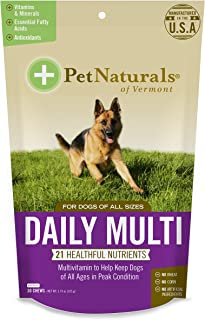Pet Naturals Daily Multi for Dogs, Everyday Multivitamin Formula with 28 Canine Specific Nutrients, 30 Bite-Sized Chews