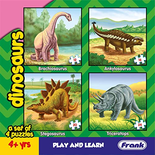 Frank - 11602 Dinosaurs Puzzle For 4 Year Old Kids And Above
