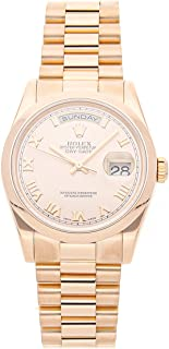 Day-Date Mechanical (Automatic) Rose Dial Mens Watch 118205 (Certified Pre-Owned)