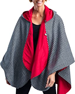 WarmCaper - Warm Rain Poncho for Women with Hood - Soft & Rainproof (Choose Your Color)