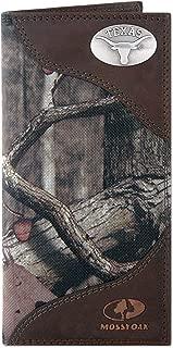 ZEP-PRO NCAA Mens Mossy Oak Nylon and Leather Secretary-Style Roper Concho Wallet