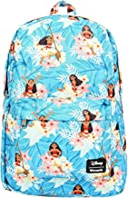 Loungefly Disney's Moana Blue Floral Print Backpack Standard