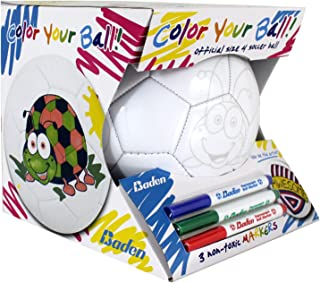 Baden Color Your Own Soccer Ball, Kids Soccer Ball w/...