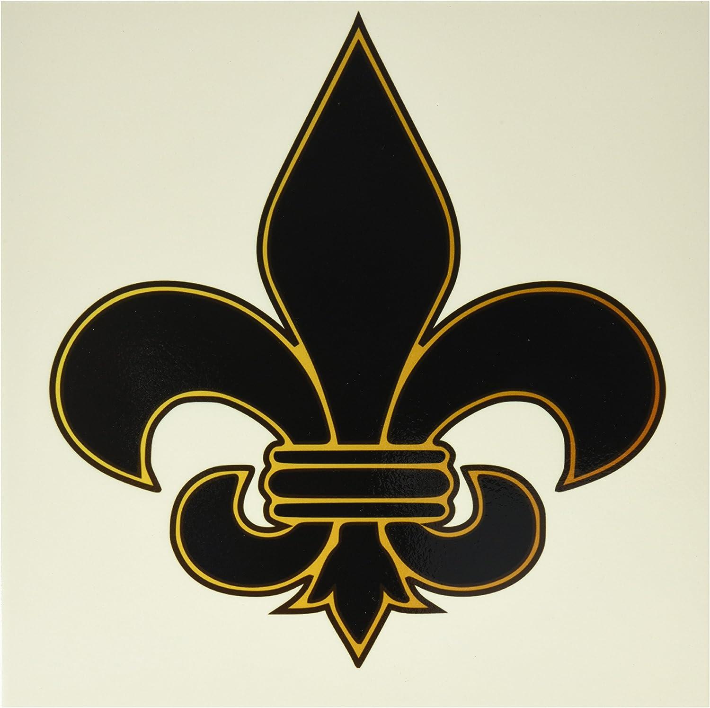 3drose Llc Ct 22360 4 Large Black And Gold Fleur De Lis Christian Saints Symbol Ceramic Tile 12 Inch Home Kitchen Amazon Com