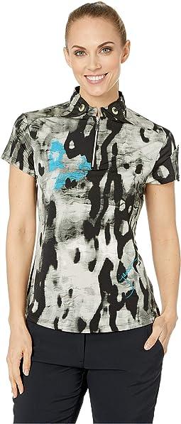 Camo Print Short Sleeve Top
