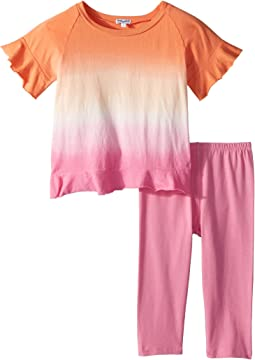 Dip-Dye Open Back Top Set (Little Kids)