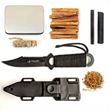 Kaeser Wilderness Supply Tactical Survival Kit Fixed Blade Combat Knife Fatwood Ferro Rod Camping Hunting Emergency