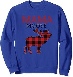 Mama Moose Christmas Plaid Xmas Sweatshirt