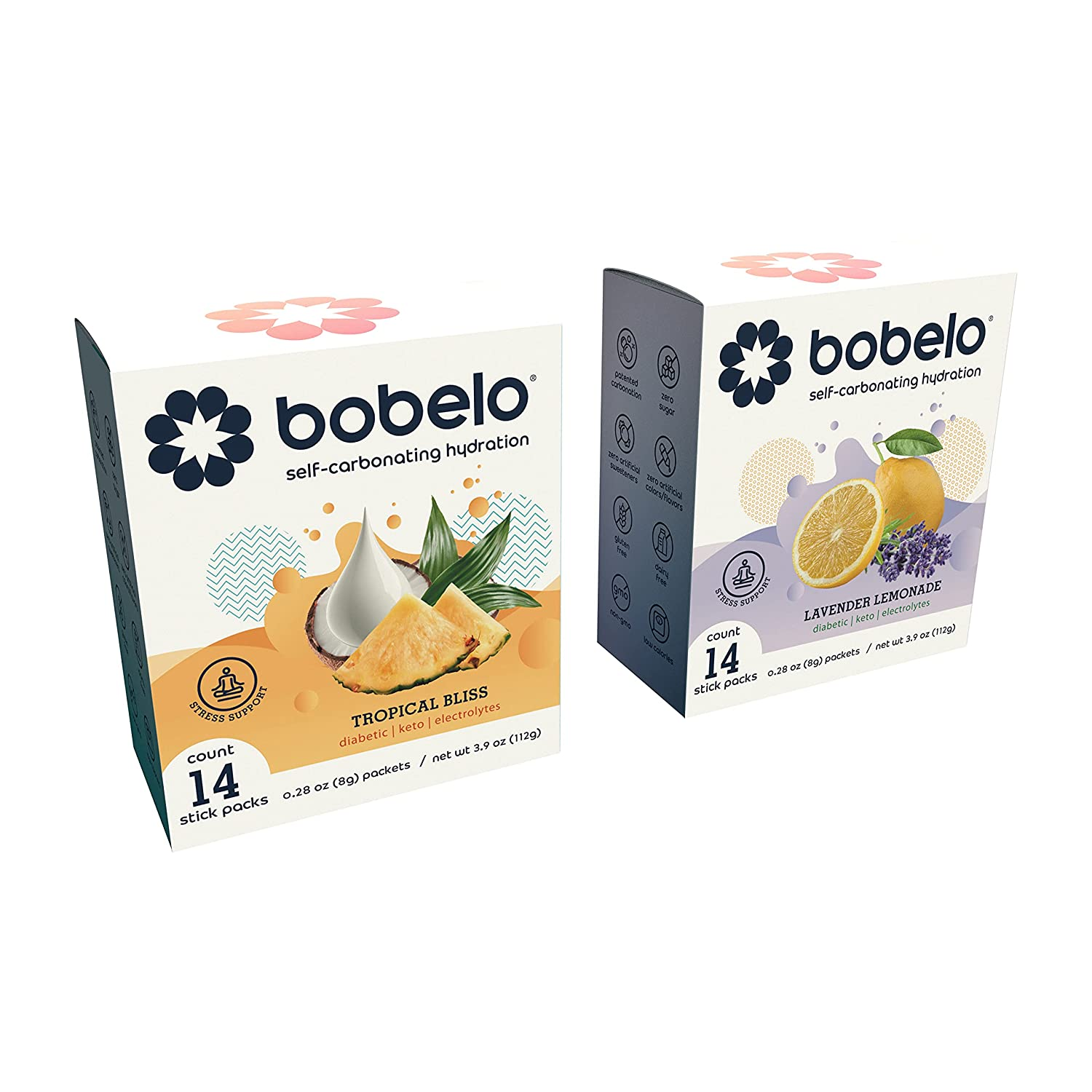 BOBELO SELF CARBONATING Hydration Packets Flavors - Great Dri 4 Industry No. 1 Fees free!!