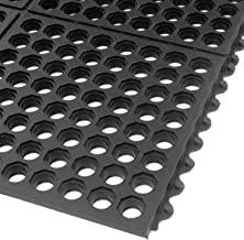 product image for Apache Mills Extra Value Drainage Matting, 3'Wx10'L, Black, with Grit Top