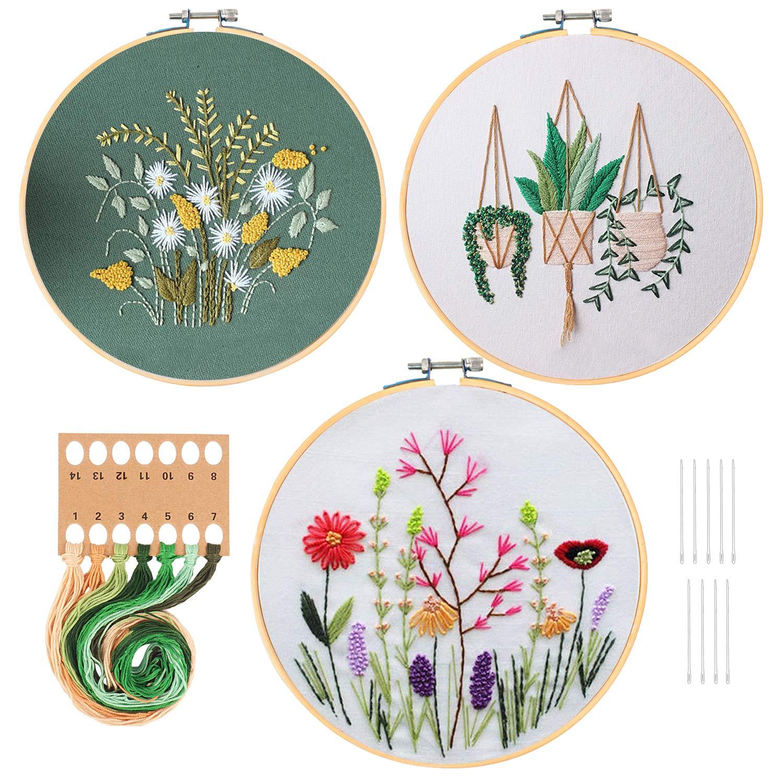 HaiMay Embroidery Starter Pattern Threads