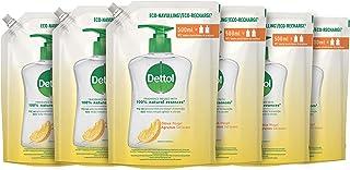 Dettol Handzeep Navulling - Citrusgeur verrijkt met 100% natuurlijke oliën - 500ml x6 Grootverpakking