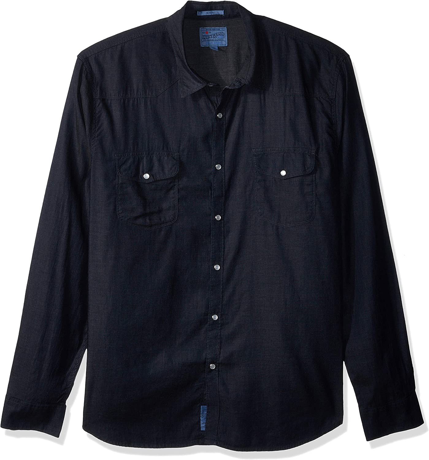 Lucky Brand Men's Casual Long Sleeve Solid Western Button Down Shirt