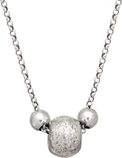 Three's a Party' Beaded Pendant Necklace in Sterling Silver