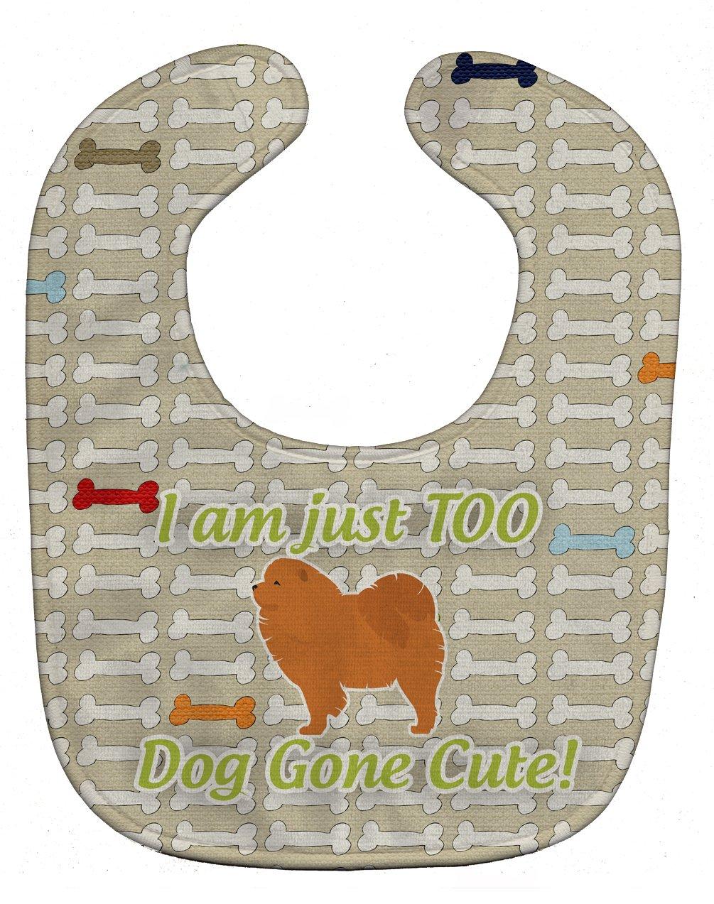 Caroline's Treasures BB6556BIB Chow Chow Dog Gone Cute Baby Bib, 10 x 13