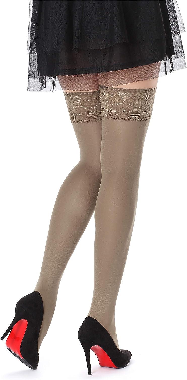 Bellivalini Womens 60 DEN Microfiber Hold Up Stockings BLVFI1005