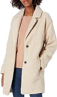 Daily Ritual Women's Teddy Bear Fleece Oversized-Fit Lapel Coat