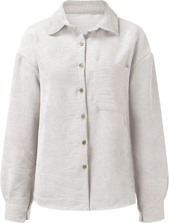Jackets for Women, Kcocoo Casual Long Sleeve Snap Button Lapel Collar Coat Polar Fleece Corduroy Warm Comfy Outwear Jackets