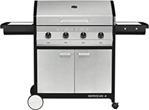 Cadac, 2-Door Cart, and Side Tables, Stainless Steel, 98512-41-01-US Meridian 4 Propane Gas BBQ Grill with 4 Burners