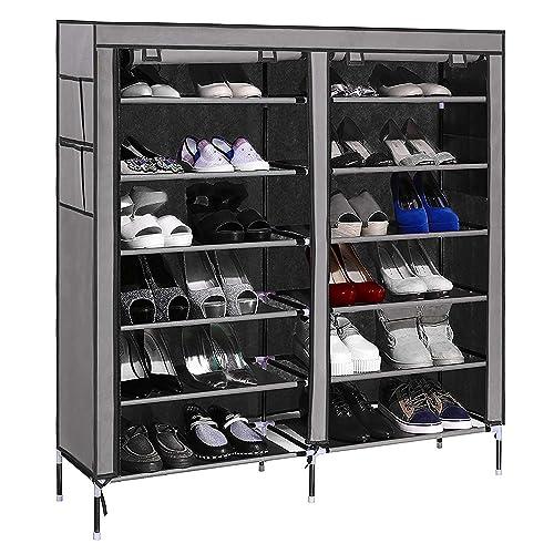 Paffy Ppcp Shoe Cabinet Rack Organizer, 58X28X8Cm(Grey)