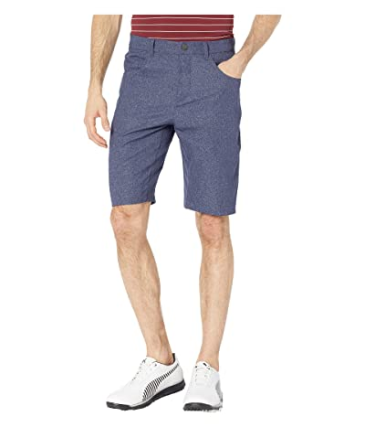 PUMA Golf Jackpot Five-Pocket Heather Shorts (Peacoat) Men