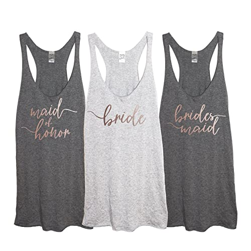 33eb87e9281 It s Your Day Clothing Rose Gold Bridal Party Tri-Blend Women s Racerback  Tank Top