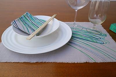 Gitika Goyal Home MATTLSCRBL Crayons Table Mats 12 Turquoise
