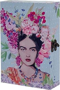 G&S Boite à clés en Bois : Modèle Frida Kahlo, H 30 cm