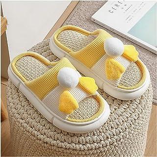 YAOLUU Summer Slippers Zapatillas de Lino Desgaste de Verano Lindo hogar Cuarto de Interior Sandalias y Zapatillas Male Ev...