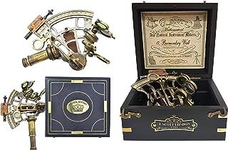 Brass Nautical Sextant Large Brass Navigation Instrument Sextante Navegacion Marine Sextant in Hardwood Gift Box
