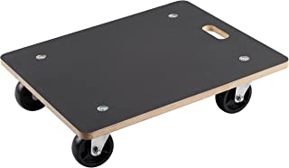 Metafranc Transportroller 590 x 490 mm - 400 kg Tragkraft - Siebdruckplatte - PA-Räder / Möbelroller / Transporthilfe für Umzug / Rollwagen für Möbel-Transport / Kistenroller aus Holz / 822020
