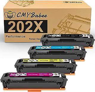 خراطيش حبر متوافقة CMYBabee لطابعات HP 202X 202A HP CF500A CF500X لطابعات HP Laserjet Pro M281fdw M254dn M254nw M281dw MFP...