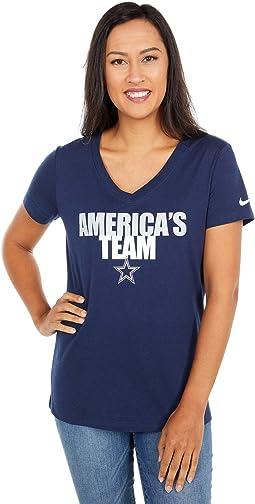 Dallas Cowboys Nike Local Impact Tri-Blend V-Neck T-Shirt