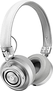 Master & Dynamic MH30S5 Foldable Premium Leather On-Ear Headphones with Superior Sound Quality and Highest Level of Design - White Leather